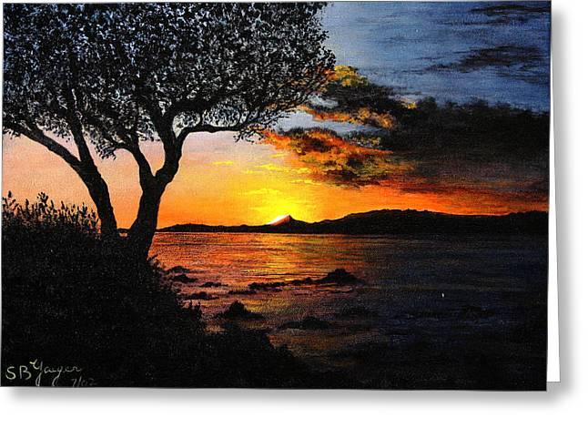 Aruba Sunset Greeting Card by Stuart B Yaeger
