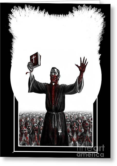 The Followers Greeting Cards - As I Rule They Shall Follow Greeting Card by Tony  Koehl