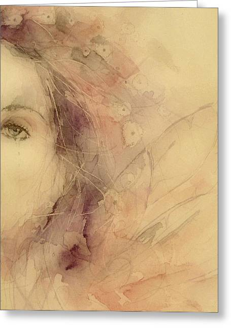 British Portraits Greeting Cards - As Tears Go By Greeting Card by Paul Lovering