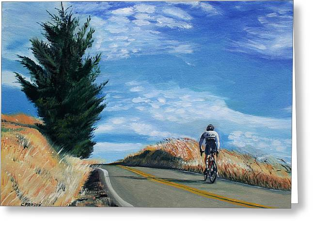 Rides Greeting Cards - Ascent Greeting Card by Colleen Proppe