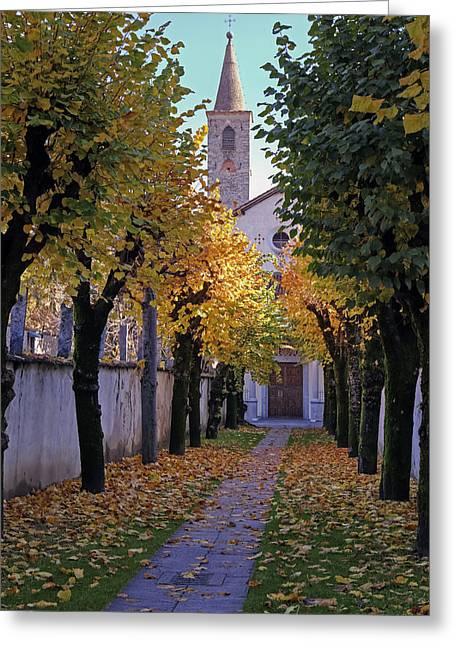 Convents Greeting Cards - Ascona - Collegio Papio Greeting Card by Joana Kruse