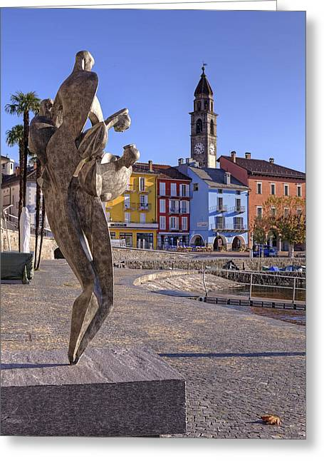 Sculpture Art Greeting Cards - Ascona - Switzerland Greeting Card by Joana Kruse