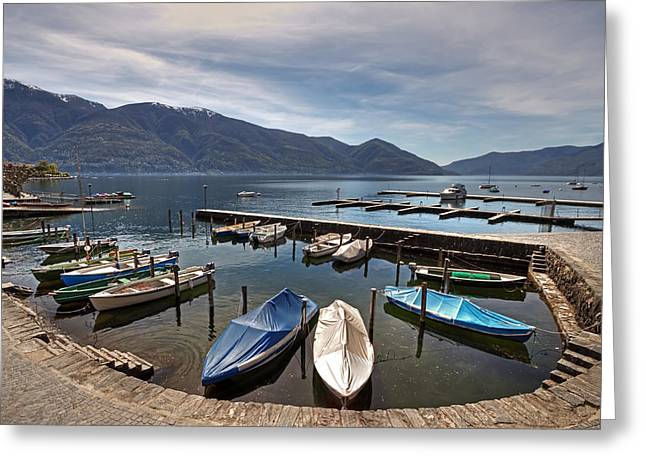 Ascona - Ticino Greeting Card by Joana Kruse