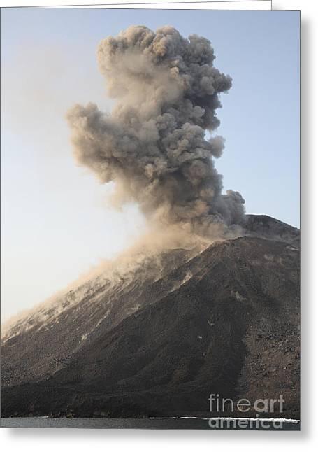 Ash Cloud From Vulcanian Eruption Greeting Card by Richard Roscoe