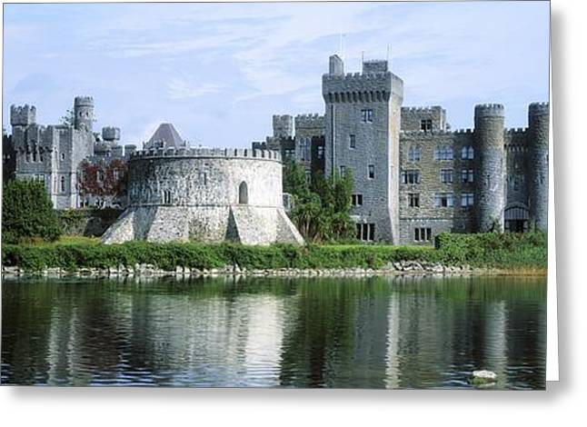 Fishing Creek Greeting Cards - Ashford Castle, Lough Corrib, Co Mayo Greeting Card by The Irish Image Collection