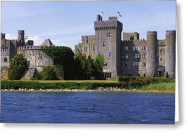 Garden Statuary Greeting Cards - Ashford Castle, Lough Corrib, Co Greeting Card by The Irish Image Collection