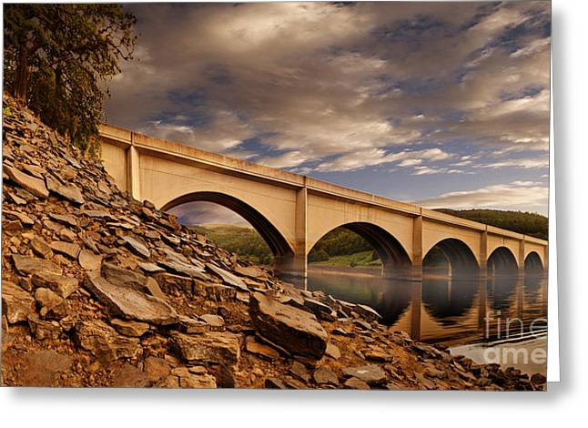 Ashopton Viaduct Greeting Card by Nigel Hatton