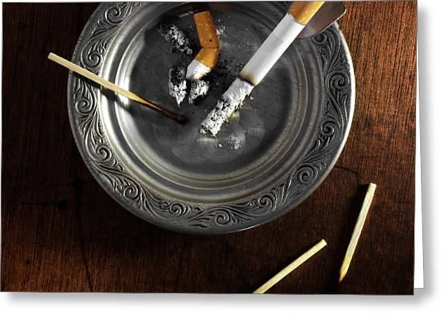 Ashtray Greeting Card by Carlos Caetano