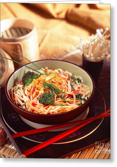 Noodles Greeting Cards - Asian Noodle Soup Greeting Card by Vance Fox