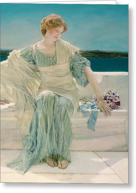 Ocean Shore Greeting Cards - Ask me no more Greeting Card by Sir Lawrence Alma-Tadema