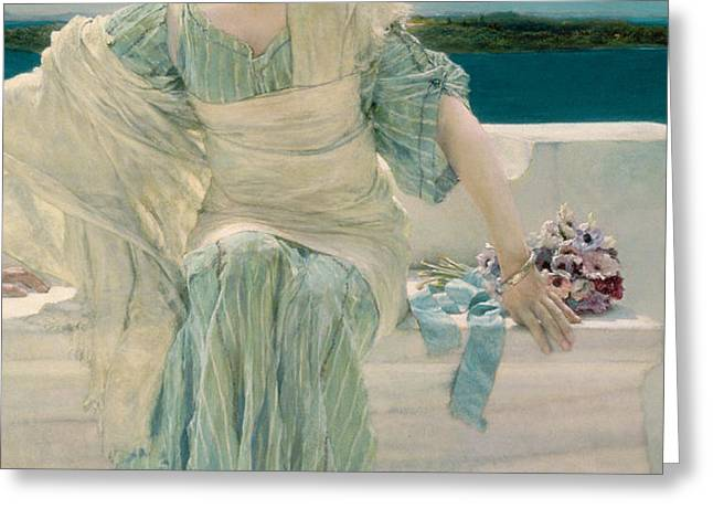 Ask me no more Greeting Card by Sir Lawrence Alma-Tadema
