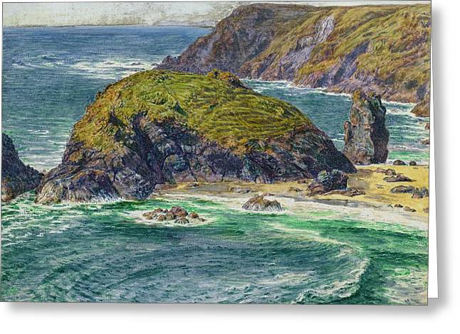 West Country Greeting Cards - Asparagus Island Greeting Card by William Holman Hunt