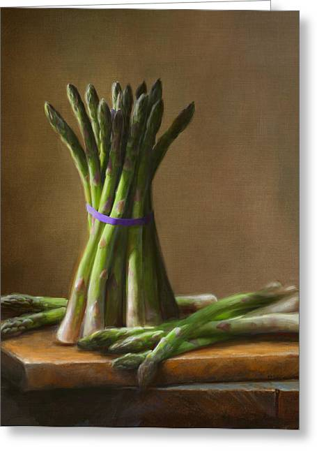 Cooking Greeting Cards - Asparagus  Greeting Card by Robert Papp