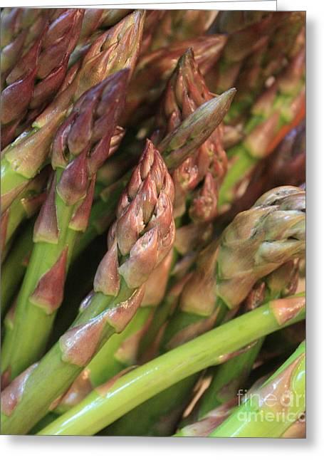 Asparagus Greeting Cards - Asparagus Tips 2 Greeting Card by Carol Groenen