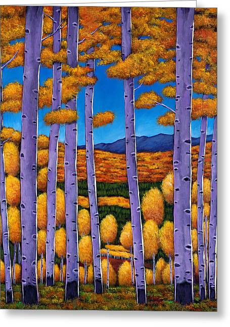 Birch Trees Greeting Cards - Aspen Country II Greeting Card by Johnathan Harris