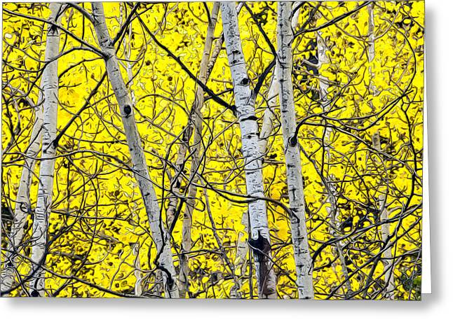 Rocky Mountains Greeting Cards Greeting Cards - Aspen Greeting Card by James Steele