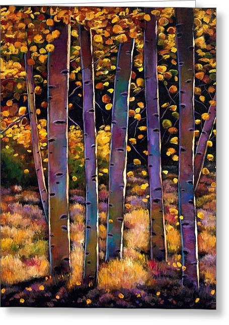 Birch Tree Greeting Cards - Aspen Stand Greeting Card by Johnathan Harris