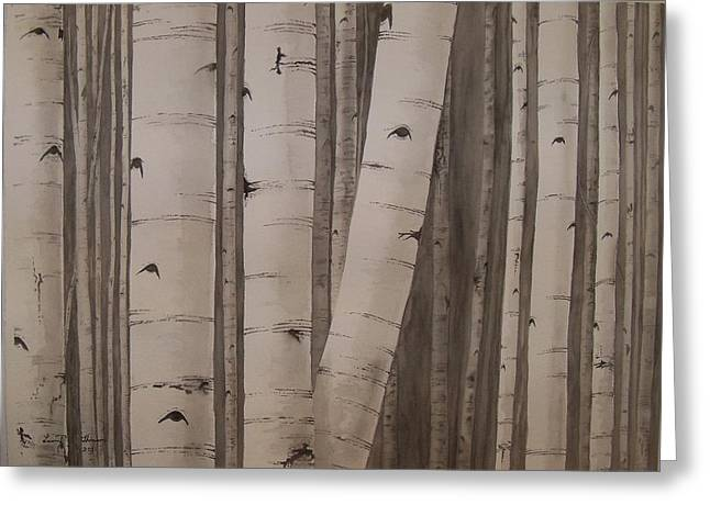 Aspens No. 2 Greeting Card by Laurel Thomson