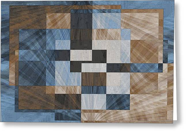 Abstract Geometric Greeting Cards - Aspiration 1 Greeting Card by Tim Allen