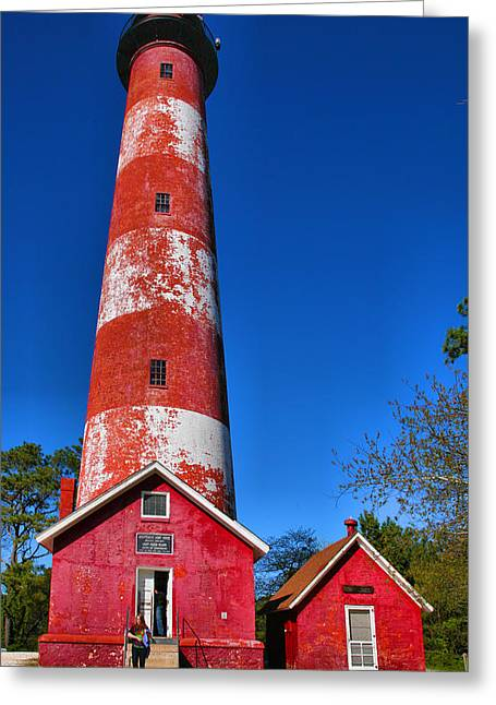 Lighthouse Prints Greeting Cards - Assateague Light House III Greeting Card by Steven Ainsworth