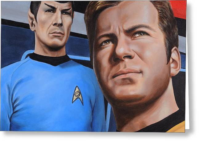 Vulcan Greeting Cards - Assessing a Formidable Opponent Greeting Card by Kim Lockman