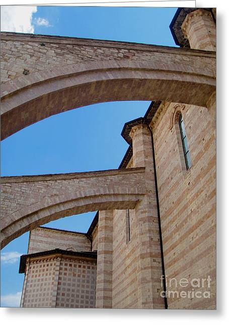 Chiara Greeting Cards - Assisi Italy - Basilica of santa chiara Greeting Card by Gregory Dyer