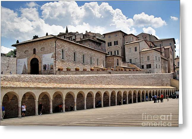 Assisi Italy Entrance Greeting Card by Gregory Dyer