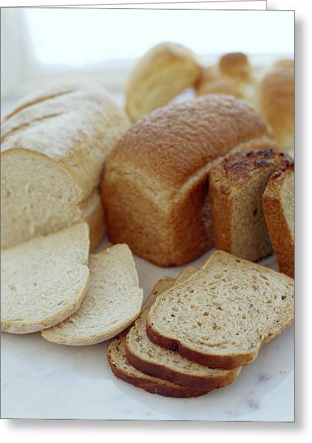Gluten Free Greeting Cards - Assorted Breads Greeting Card by David Munns