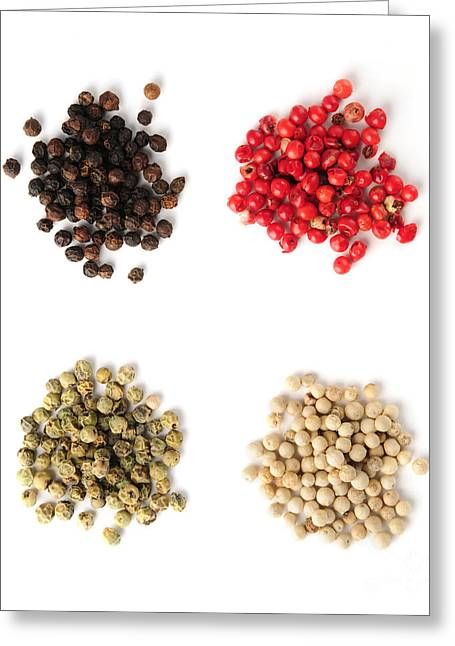 Pungent Greeting Cards - Assorted peppercorns Greeting Card by Elena Elisseeva