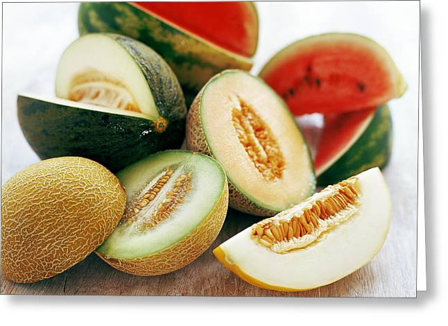 Assortment Of Melons Greeting Card by David Munns