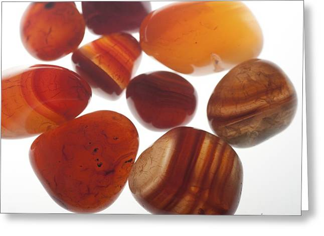 Assortment Of Red Gemstones Greeting Card by Photostock-israel
