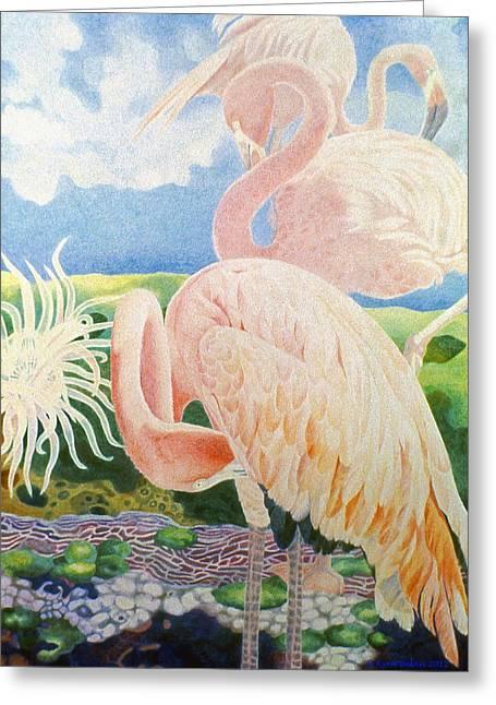 Surreal Landscape Drawings Greeting Cards - Astartes Paradise III Greeting Card by Kyra Belan