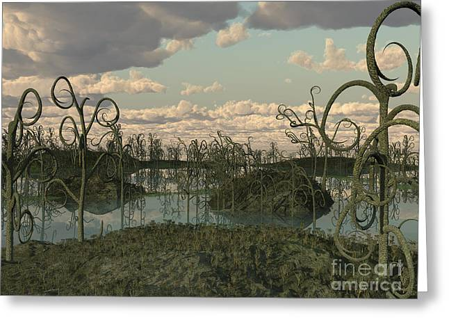Geology Digital Art Greeting Cards - Asteroxylon Was A Primitive Plant That Greeting Card by Walter Myers
