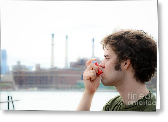 Medication Greeting Cards - Asthma Greeting Card by Photo Researchers