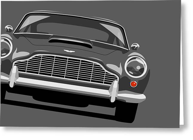 Martin Greeting Cards - Aston Martin DB5 Greeting Card by Michael Tompsett