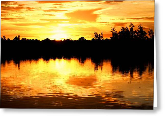 Astonishing Sunset Greeting Card by Luis and Paula Lopez