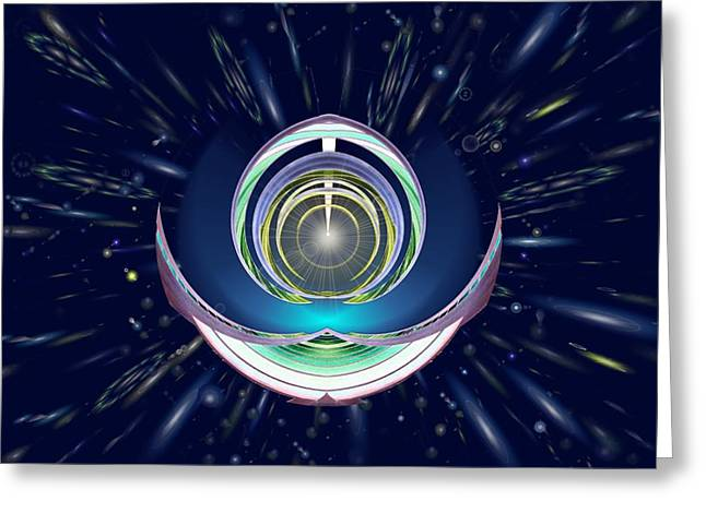 Roadway Digital Art Greeting Cards - Astral Speedway Greeting Card by Tim Allen