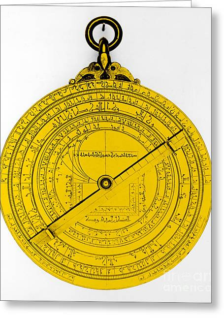 Color Enhanced Greeting Cards - Astrolabe Greeting Card by Omikron