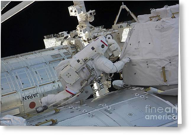Component Greeting Cards - Astronaut Participates In A Session Greeting Card by Stocktrek Images