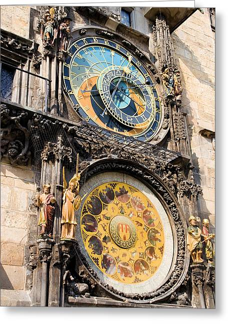 Mechanism Greeting Cards - Astronomical Clock in Prague Greeting Card by Artur Bogacki