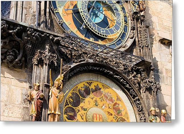 Astronomical Clock in Prague Greeting Card by Artur Bogacki