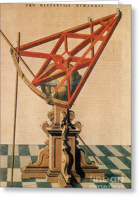 1500s Greeting Cards - Astronomical Sextant Greeting Card by Science Source