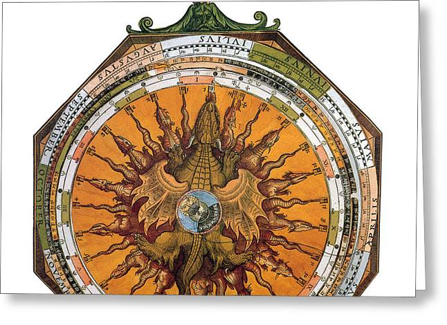 Astronomicum Caesareum With Dragon Greeting Card by Photo Researchers