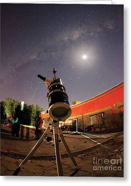 Twinkle Greeting Cards - Astrophotography Setup With The Moon Greeting Card by Luis Argerich