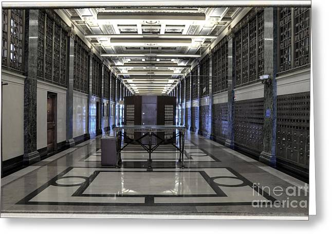 Glass Wall Greeting Cards - At an undisclosed location Greeting Card by Joan Carroll