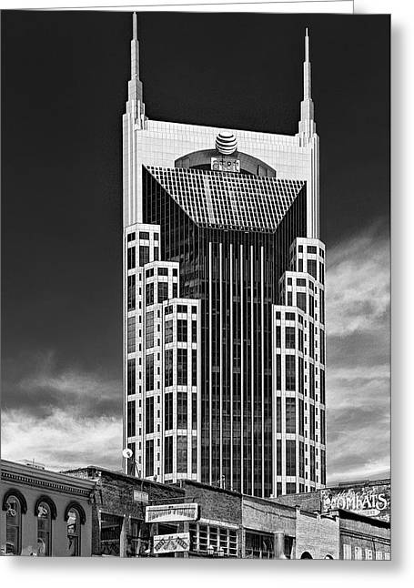 Nashville Tennessee Greeting Cards - AT And T Nashville Greeting Card by Ian Barber