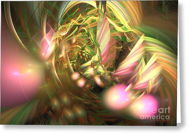 At Dawn - Fractal Art Greeting Card by Sipo Liimatainen