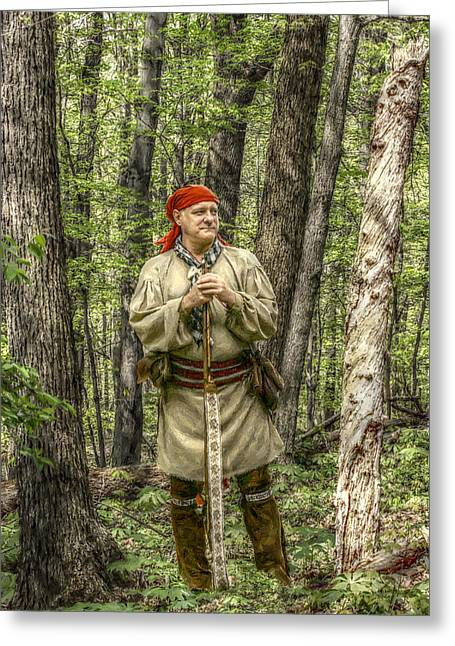Militaria Greeting Cards - At Home in the Forest Greeting Card by Randy Steele