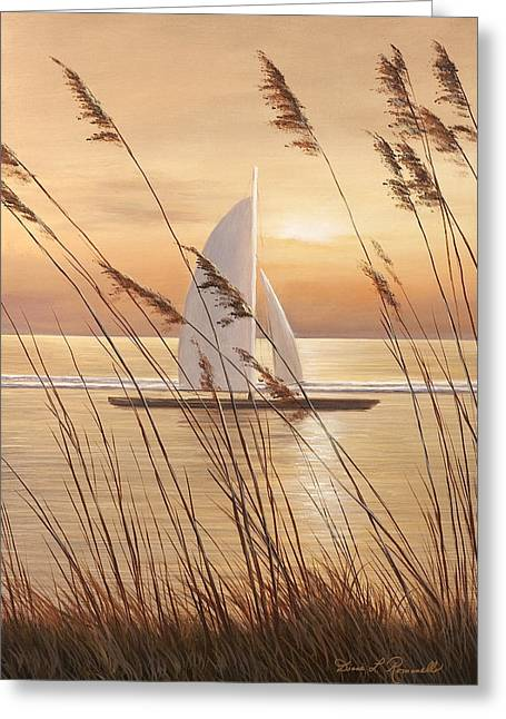 Sunset Prints Greeting Cards - At Last Greeting Card by Diane Romanello