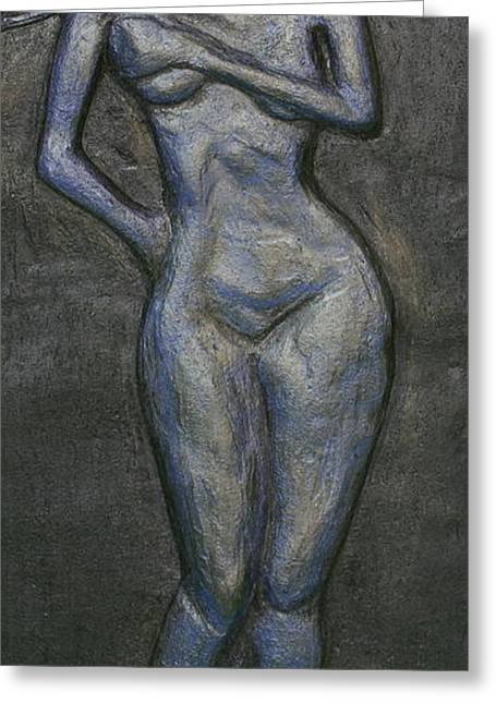 Nude Relief Sculpture Greeting Cards - At Last  Greeting Card by Heather Davidson